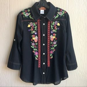 Scully Western Embroidered Button Down Shirt